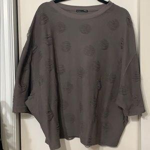 Zara distressed top